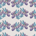 Seamless pattern of blackberry with branch and leaves Royalty Free Stock Photo