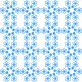 Seamless pattern of blue flowers on a white background