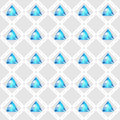 Seamless pattern with blue gemstones vector illustration Stock Photography