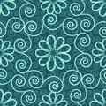 Seamless pattern blue ornamental decorative Stock Image