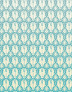 Seamless pattern blue retro damask flower backgrou vector background Stock Images