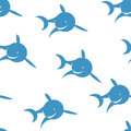 Seamless pattern blue shark Royalty Free Stock Photo