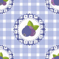 Seamless pattern with blueberry. Bright colors, fashion style for prints, batik, silk textile, cushion pillow, bandanna kerchief.