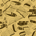 Seamless pattern of books vintage Stock Image