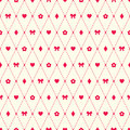 Seamless Pattern With Bow, Flo...