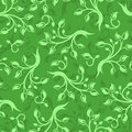 Seamless pattern with branches and leaves. Stock Photography
