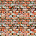Seamless pattern - brick wall grunge background Royalty Free Stock Photo