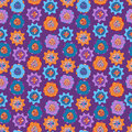 Seamless pattern with bright abstract flowers for textiles interior design for book design website background Royalty Free Stock Photography