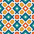 Seamless pattern in bright colors. Ethnic and tribal motif. Repeated geometric forms. Colorful ornamental background Royalty Free Stock Photo