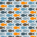 Seamless pattern with bright fishes Royalty Free Stock Images