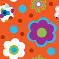 Seamless pattern with bright flowers Stock Image