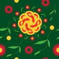 Seamless pattern bright summer flower