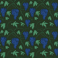 Seamless pattern with bunches and leaves of grapes Stock Images