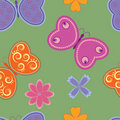 Seamless pattern with butterflies Stock Photography