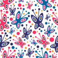 Seamless pattern with butterflies Stock Image