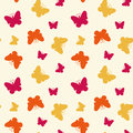 Seamless pattern with butterflies colorful vector illustration Stock Photo