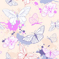 Seamless pattern with butterfly Stock Image