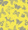 Seamless pattern of butterfly with color of year. Entomological collection of highly detailed hand drawn butterflies. Vector Royalty Free Stock Photo