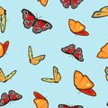 Seamless pattern with butterflys Royalty Free Stock Images