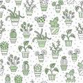 Seamless pattern of cacti.