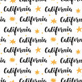 Seamless Pattern with California modern calligraphy