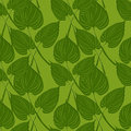 Seamless pattern with calls leaves on green background Royalty Free Stock Photography