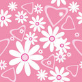 Seamless pattern with camomiles Stock Images