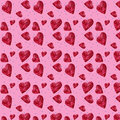 Seamless pattern of candy hearts