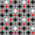 Seamless pattern with card suits motif. Royalty Free Stock Photo