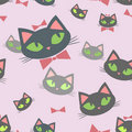 Seamless pattern with cartoon cats Royalty Free Stock Photography