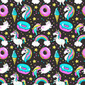 Seamless pattern in cartoon 80s-90s comic style. Royalty Free Stock Photo