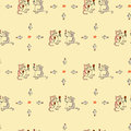 Seamless pattern cat and wine Royalty Free Stock Photo