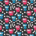 Seamless pattern with cats and dogs Royalty Free Stock Photos