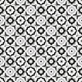 Seamless pattern ceramic black and white tile design Royalty Free Stock Photo