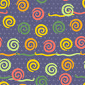 Seamless pattern with cheerful snakes endless background Stock Image