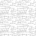 Seamless pattern with chemical formulas Royalty Free Stock Photo