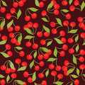 Seamless pattern of cherries Royalty Free Stock Photo