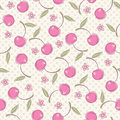 Seamless pattern with cherries vector illustration Stock Images