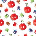 Seamless pattern with cherries vector illustration Royalty Free Stock Photo