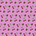 Seamless pattern cherry on pink background vector illustration for web design or ads