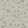 Seamless pattern of children`s drawings of windows