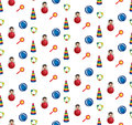Seamless pattern  with children's toys Stock Images