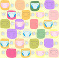Seamless pattern with childrens diaper vector illustration Stock Photography