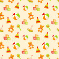 Seamless pattern with childrens toys. Royalty Free Stock Image