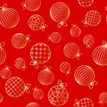 Seamless pattern with Christmas ball Winter festive background on New Year and Christmas ornament for greeting cards