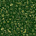 Seamless pattern with Christmas decoration.