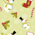 Seamless pattern with Christmas elements Stock Photo