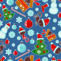 Seamless pattern with Christmas elements Royalty Free Stock Photo