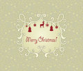 Seamless Pattern with Christmas Greetings Royalty Free Stock Photography