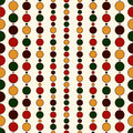 Seamless pattern with Christmas in traditional colors. Xmas background with festive hanging garland beads. Royalty Free Stock Photo